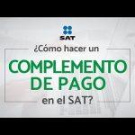 complemento de pago electronico sat 2018